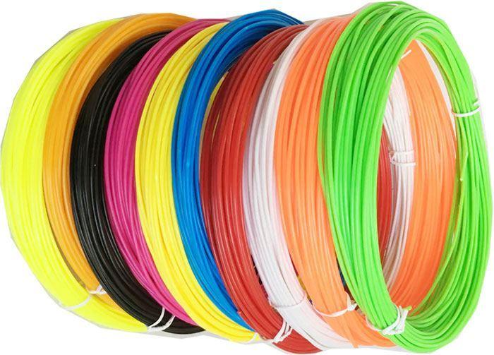 Tisková struna 1,75mm 10barev po 10m,materiál PLA, /3D tisk/
