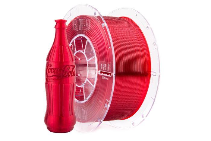 Tisková struna Swift PET-G červená - rubín, Print-Me, 1,75mm, 1kg