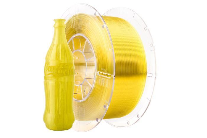 Tisková struna Swift PET-G žlutá - sklo, Print-Me, 1,75mm, 1kg