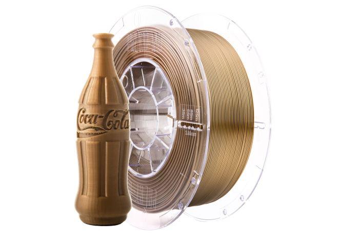Tisková struna Swift PET-G zlatá antik, Print-Me, 1,75mm, 1kg