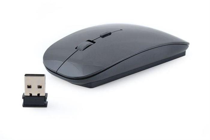 Bezdrátová optická myš ultra tenká černá