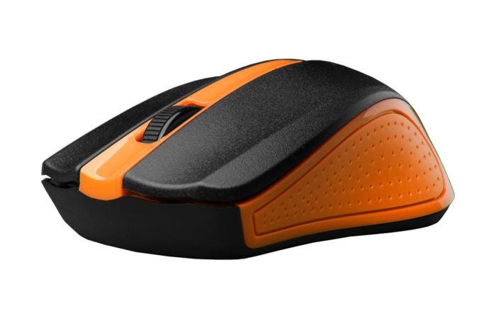 C-tech myš WLM-01 bezdrátová, oranžová