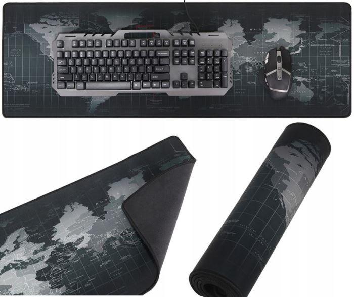 Podložka pod myš a klávesníci, mapa světa 29.5 x 87.5cm