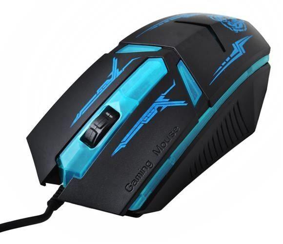 Herní optická myš, USB, modrá