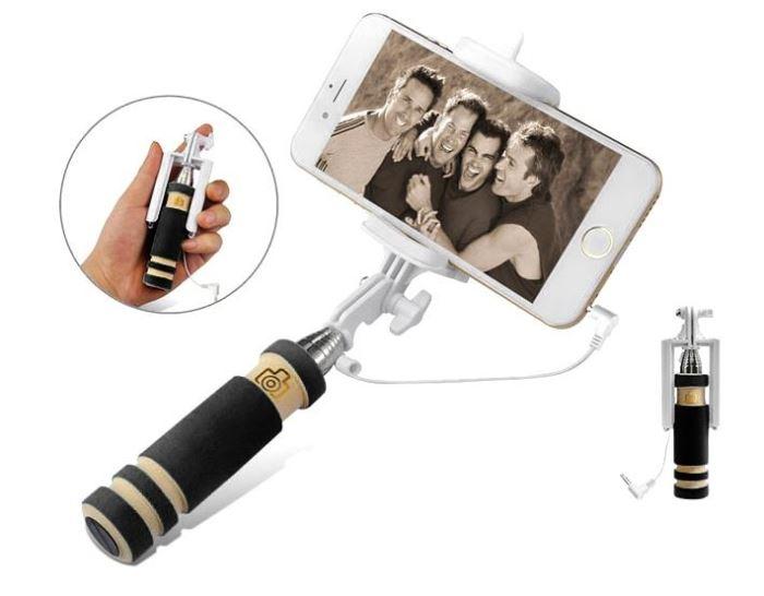 Držák - teleskopická tyč 14-61 cm pro focení selfie, MINI