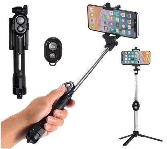 Držák  - Selfie tyč, stativ s bluetooth ovladačem 3v1