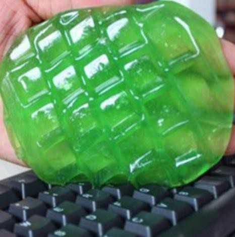 Hmota pro čištění klávesnice