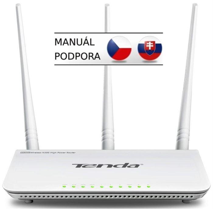 Router Tenda F3 (F303) WiFi N Router 802.11 b/g/n, 300 Mbps, WISP, Un