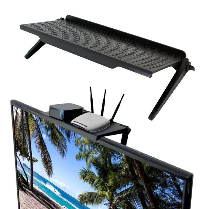 Závěsná polička na TV, monitor 30 x 11 cm černá