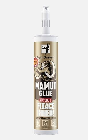 Lepidlo MAMUT GLUE (High tack) Den Braven, 290 ml, bílá