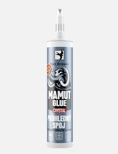 Lepidlo MAMUT GLUE Crystal Den Braven, 290 ml, transparent