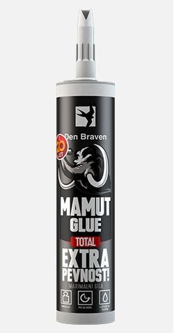 Lepidlo MAMUT GLUE Total Den Braven, 290 ml, white
