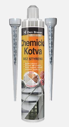 Chemická kotva bez styrenu POLYESTER SF DEN BRAVEN, 280ml, šedá