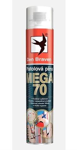 Pistolová pěna MEGA 70 DEN BRAVEN, 870 ml