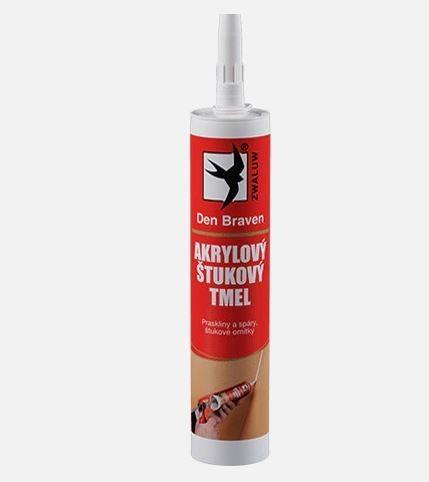 Akrylový štukový tmel bílý, DEN BRAVEN, 310ml