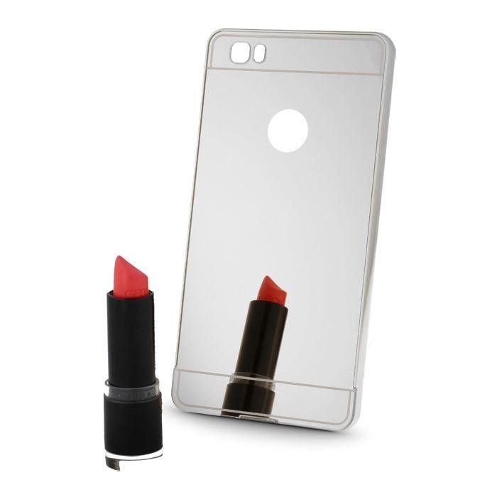 Pouzdro Metal Mirror pro Huawei P9 Lite šedá
