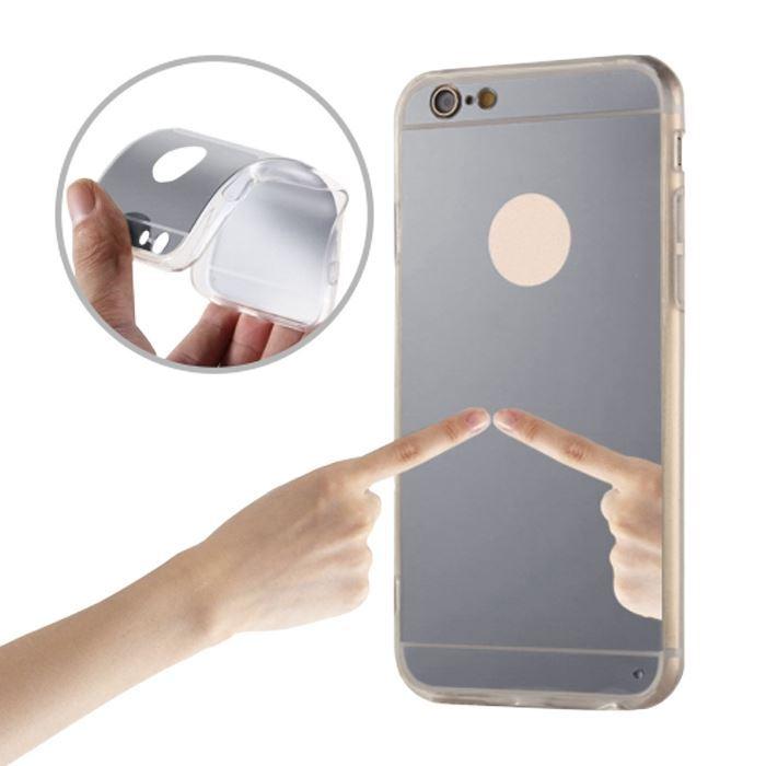 Silikonové pouzdro Mirror TPU pro Huawei Y3 II stříbrný