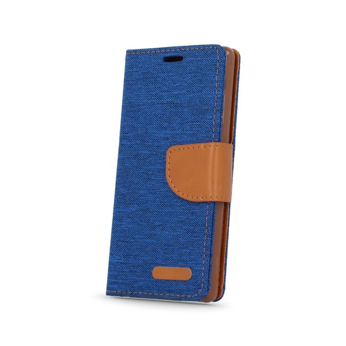 Pouzdro Smart Canvas pro mobil iPhone 5/5s modro-hnědé