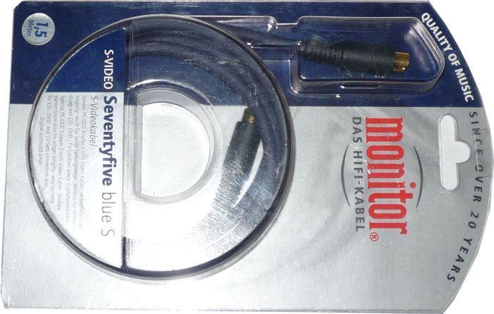 Kabel S VHS-S VHS 1,5m Inakustik Seventyfive blue S