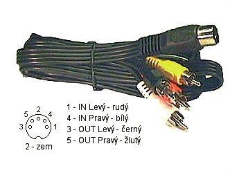 Kabel 4xCinch-DIN5,  1,5m