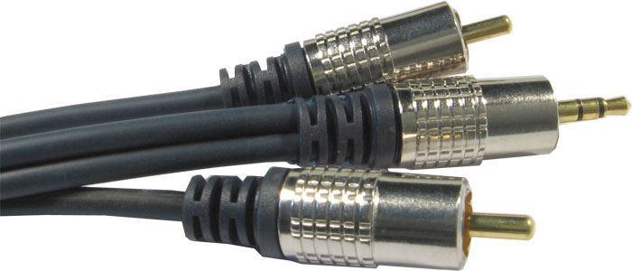 Kabel 2xCinch-Jack 3,5mm stereo, kabel 2x3,5mm, 3m