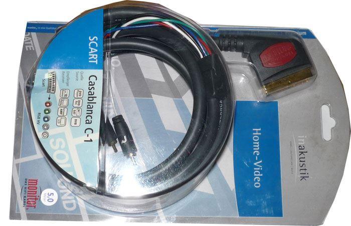Kabel Scart OUT - 5x Cinch, 5m, Inakustik CASABLANCA C1