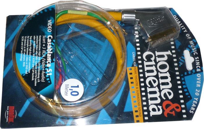 Kabel Scart OUT-3xCinch IN, 1m, Inakustik, CASABLANCA S1