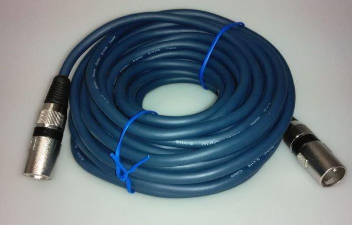 Kabel XLR 3p konektor - XLR 3p zdířka 10m OFC