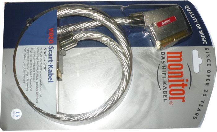 Kabel Scart-Scart 21pin transparent, 1,5m, Inakustik