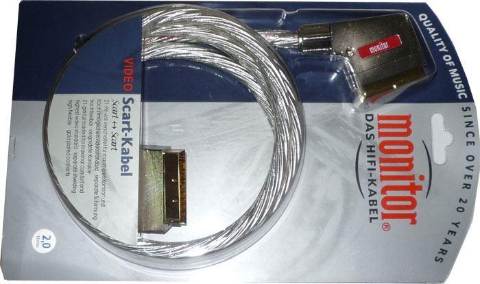 Kabel Scart-Scart 21pin transparent, 2m, Inakustik