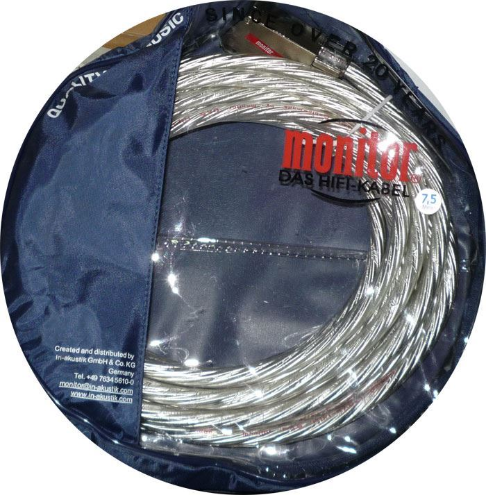 Kabel Scart-Scart 21pin transparent, 7,5m, Inakustik