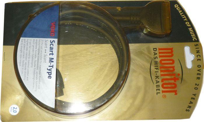 Kabel Scart-Scart 21pin přímý, 2m, Inakustik M type