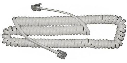 Telefonní kabel kroucený bílý 5m (4P4C)