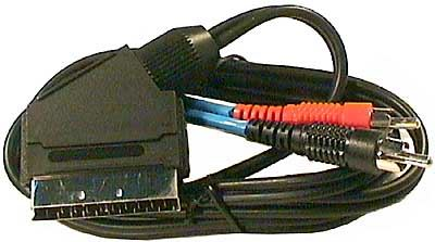 Scart OUT-2xCinch IN 1,5m audio stereo