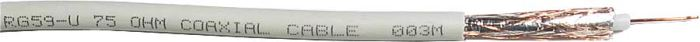 Koax 75ohm RG59-U 6mm, bílý