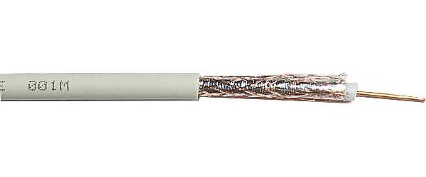 Koax 75ohm RG6-U, 6,8mm, bílý