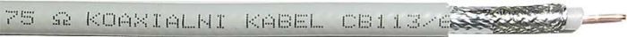 Koax 75ohm CB113,(KH21-náhrada)6,8mm, pěna 1,13Cu