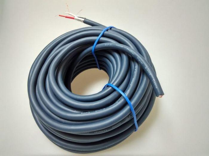 Kabel mikrofonní ohebný OFC 2x2,6mm 2x stínění - klubko 15m
