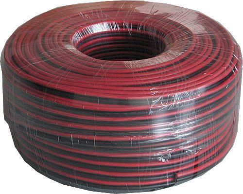 Dvojlinka 2x2,5mm2 13AWG červeno-černá, balení 100m /CYH 2x2,5mm/