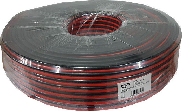 Dvojlinka 2x4mm2 11AWG, červeno-černá, balení 100m