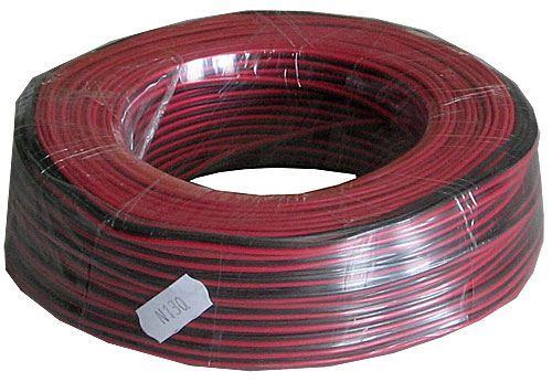 Dvojlinka 2x0,12mm2 28AWG červeno-černá, balení 100m