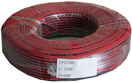 Dvojlinka 2x0,35mm2 22AWG červeno-černá, balení 100m /CYH 2x0,35mm/