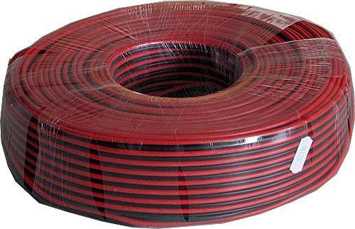 Dvojlinka 2x1mm2 17AWG červeno-černá, balení 100m /CYH 2x1mm/
