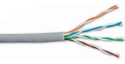 Kabel UTP Cat5e 4páry, drát  AWG26