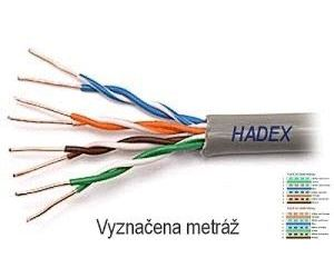 Kabel UTP Cat6 4x2, AWG23, šedá, drát