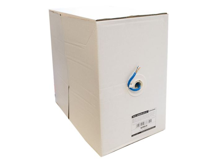 Kabel UTP Cat6e 4x2, AWG24, modrá, drát