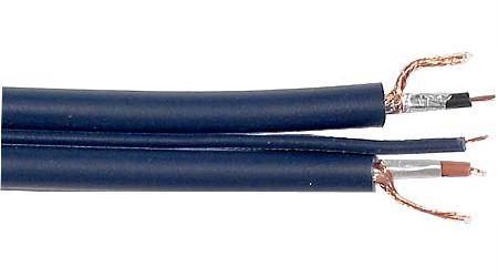 Stíněný kabel 2x6mm+2mm ovládací-modrý