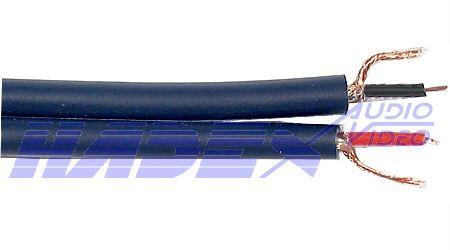 Kabel stíněný 2x5mm+2mm ovládací, černý, 15,2m zbytek DOPRODEJ