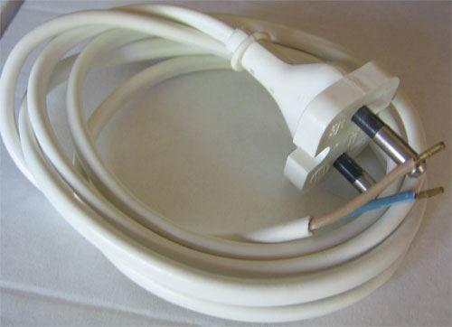 Flexo s volným koncem 2x0,5mm 1,2m bílá