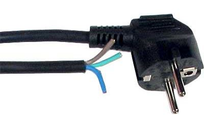 Flexo s volným koncem 3x0,75mm 2m černá